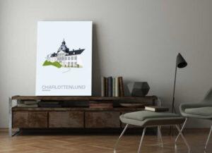 ♥ Charlottenlund plakat  By Lindhardt
