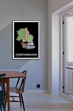 ♥ Christianshavn plakat By Lindhardt