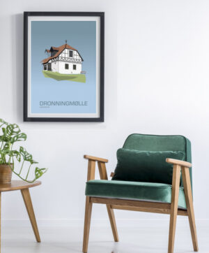 ♥ Dronningmølle Slot plakat  By Lindhardt