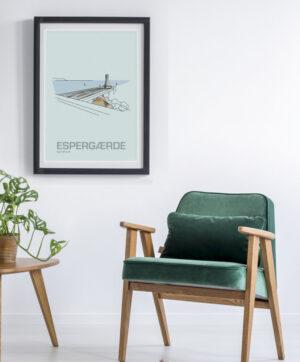 ♥ Espergærde plakat By Lindhardt