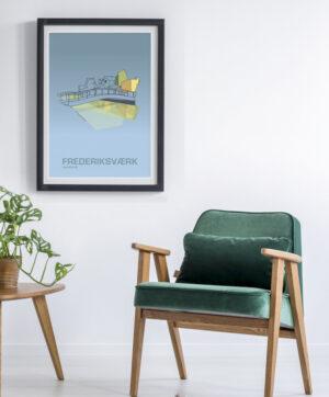 ♥ Frederiksværk plakat By Lindhardt