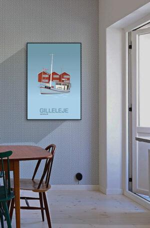 ♥  Gilleleje plakat By Lindhardt