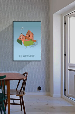 ♥ Gladsaxe plakat By Lindhardt