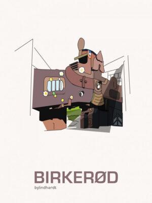 ♥ Birkerød plakat By Lindhardt