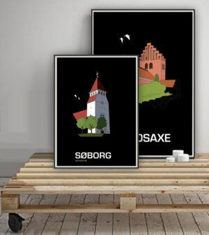 ♥ Søborg plakat By Lindhardt