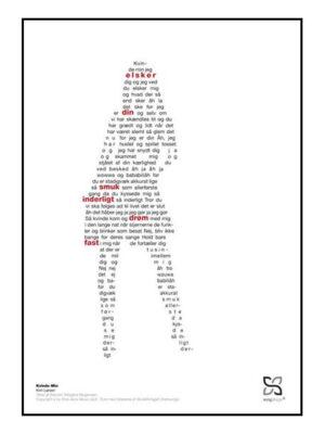 Kim Larsen plakat. Kvinde min