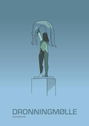 ♥ Dronningmølle Statuepark plakat