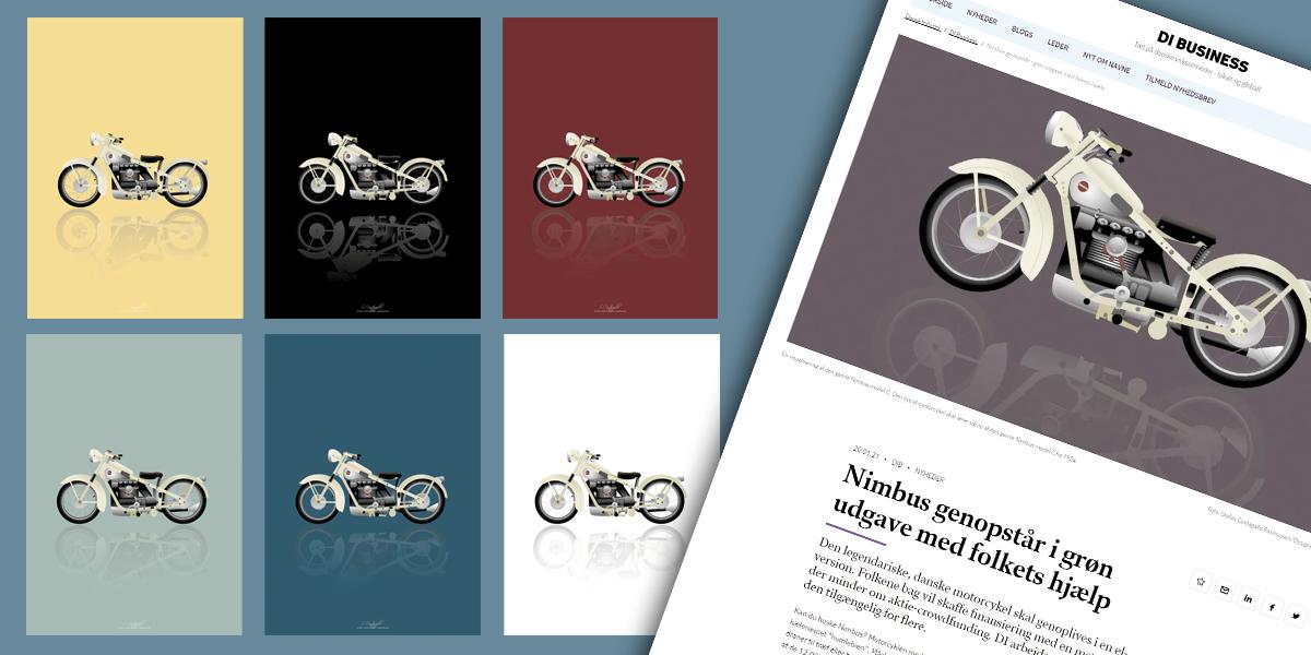Nimus Motorcykles relancerer Nimbus i EL udgave. Vi fik æren af at ligge design til offentliggørelsen og markedsføringsmaterialet